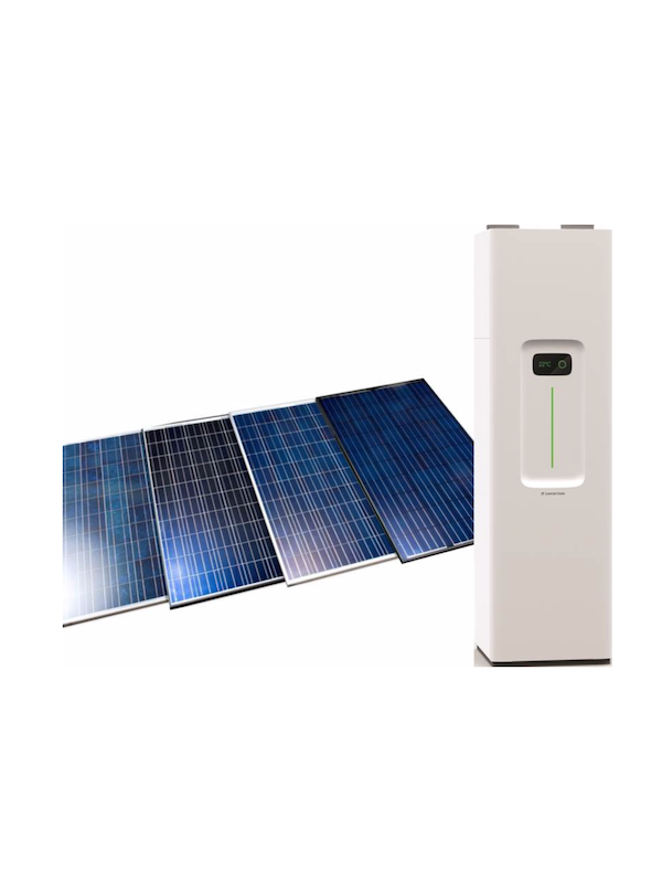 ComfortZone heat pump synchronized with solar panels